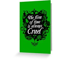 The Flow of Time Greeting Card