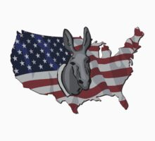 USA Map Flag Democrat Donkey Vintage by Sportswear