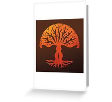 Tree of Life, Woodcut (viviána) Greeting Card