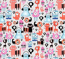 texture of funny monsters by Tanor