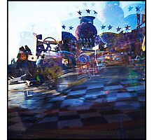 Carnival in blue Photographic Print