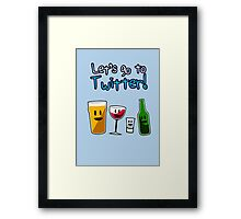 Let's Go To Twitter! (alcohol) Framed Print