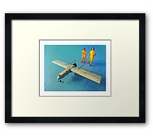 Sniffin' out the chicken! Framed Print