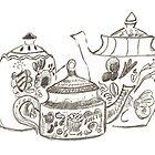 Three Teapots by Jay Reed