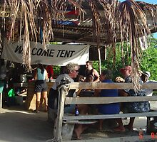 A  Sunday Barbeque on Hogs Island, Grenada, Caribbean by KempleyCraft