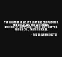 Doctor Who Miracle Quote by Himehimine