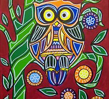 Owl - Mexican Folk Art by AVApostle
