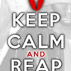 Keep Calm and Reap Postcard by acdramon