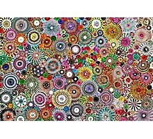 Childhood Dreams - Painted Spirograph Art Photographic Print
