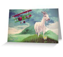 i'll get me goat Greeting Card
