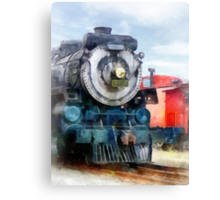 Locomotive and Caboose Canvas Print