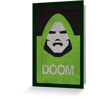 DOOM Minimalism poster Greeting Card