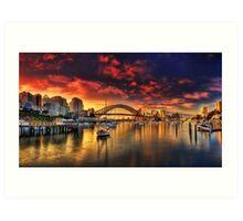 Lavender Bay Sunrise - Panorama  Art Print