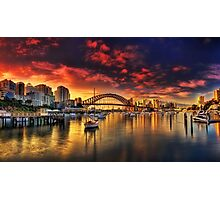 Lavender Bay Sunrise - Panorama  Photographic Print