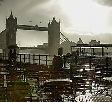 Sunny Rainstorm in London, England by Georgia Mizuleva