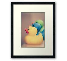 Ducks in a Row Framed Print