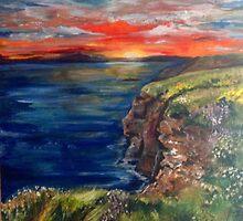Sunrise in Ballybunion Ireland by viveca
