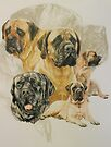 Bullmastiff w/Ghost by BarbBarcikKeith