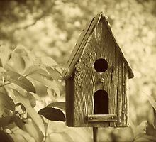 Bird House black and white photography by jemvistaprint
