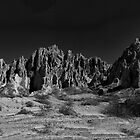 Argentine Mountains Panorama - monochrome by photograham