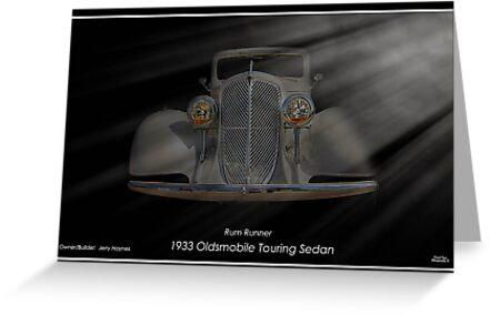 """Rum Runner - 1933 Oldsmobile Touring Sedan by Michael """" Dutch """" Dyer"""