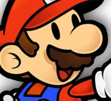 Mushroom Kingdom Couple: Mario Shirt Sticker