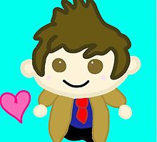 Chibi Tenth Doctor (David Tennant) by NepetasMeowrail