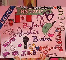 Justin Bieber collage  by Drawingsbylyssa