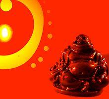 Jolly Red Buddha by SpilledTheWine