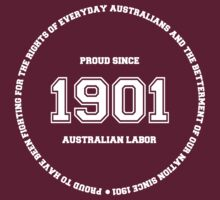 Australian Labor Party 1901 Varsity Design by kierendaniel