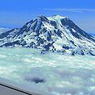Rainier's Summit Above the Clouds by M-EK