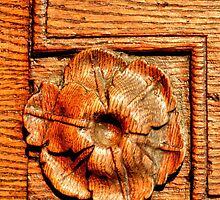 Sculpted Ornament in an Oakwood Door by ivDAnu