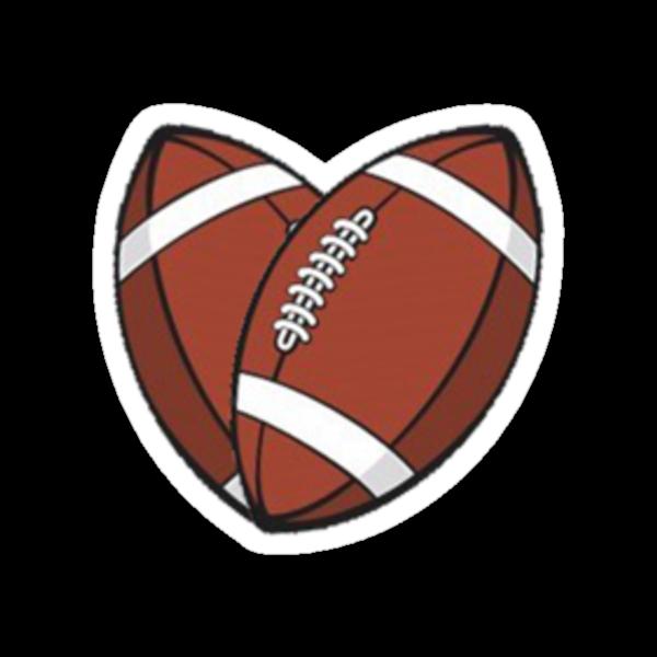 Heart shaped football quot stickers by serj92 redbubble