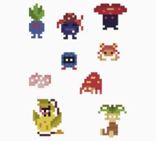 Mini Pixel Kanto Grass Types - Set of 9 by pixelatedcowboy