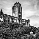 Liverpool Anglican Cathedral Black and White by Paul Madden