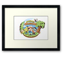 Pokémon Crossing Framed Print