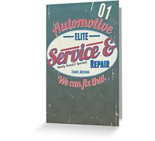 AUTOMOTIVE Greeting Card