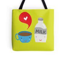 Coffee loves milk Tote Bag