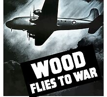 Wood Flies To War -- WW2 by warishellstore