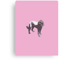 Light Pink Puppy Canvas Print