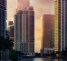 Miami River at Brickell Key by DDMITR