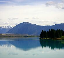 Lake Ruataniwha New Zealand landscape by jwwallace