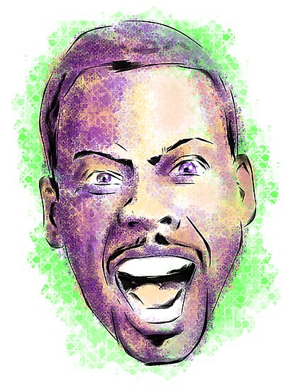 Chris Rock in your face by uberdoodles