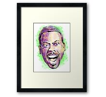 Chris Rock in your face Framed Print