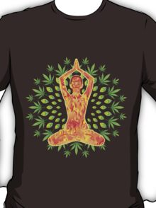 Young woman practicing meditation 8 T-Shirt