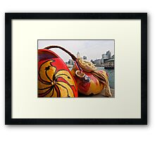 strike a pose...let's take a picture... Framed Print