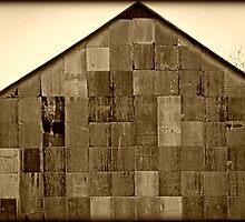 Checker Barn No. 2 rustic unique barn photograph by jemvistaprint