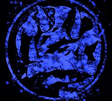 Morphin Rangers digital splatters BLUE by justin13art