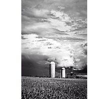Stormy Weather on the Farm Photographic Print