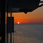 Sunset on a cruise ship by Jessica Warren